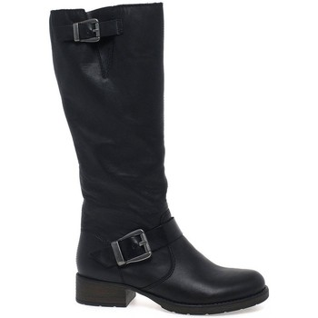 Shoes Women High boots Rieker Feline Womens Long Boots black