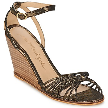 Shoes Women Sandals Petite Mendigote COLOMBE Black / Gold