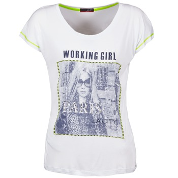 Clothing Women short-sleeved t-shirts La City TMCD3 White