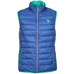 Clothing Men Duffel coats U.S Polo Assn. USPA LT PADDED VEST Blue