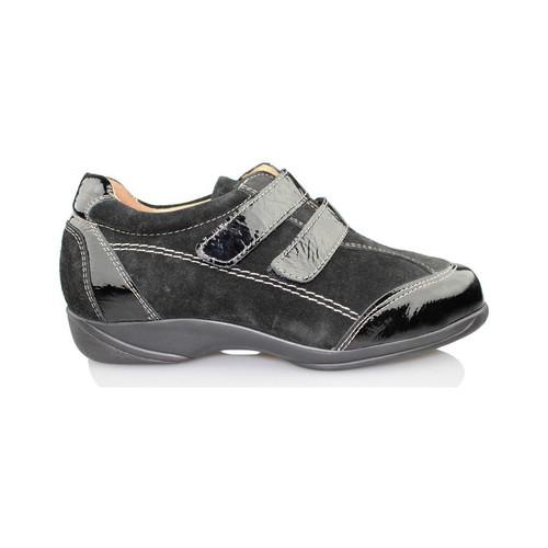 Shoes Women Brogues Calzamedi therapeutic shoe Velcro BLACK
