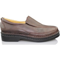 Shoes Men Loafers Calzamedi man wearing moccasin BLACK