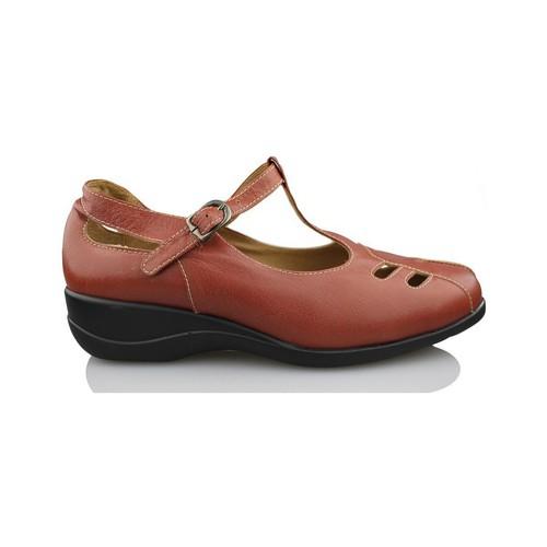 Shoes Women Heels Calzamedi woman mercedita BROWN