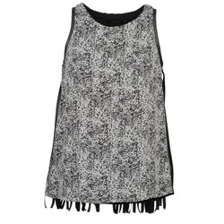 Clothing Women Tops / Sleeveless T-shirts Color Block PINECREST Black / White
