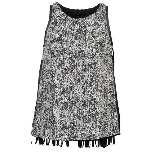 Clothing Women Tops / Sleeveless T-shirts Color Block PINECREST Grey / Black / White