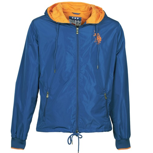 Clothing Men Jackets U.S Polo Assn. EIGHTEEN 90 Blue / Orange
