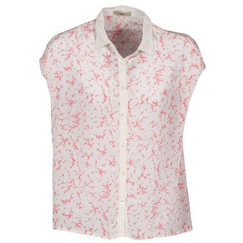 Clothing Women short-sleeved shirts Lola CANYON White / Red