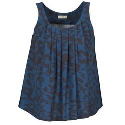 Clothing Women Tops / Sleeveless T-shirts Lola CUBA Blue / Black