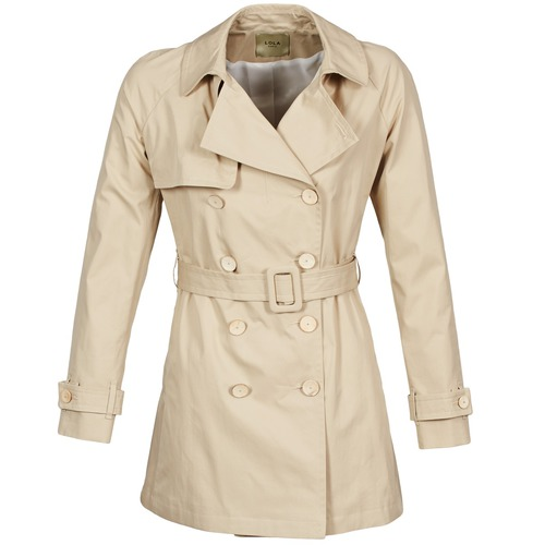 Clothing Women Trench coats Lola MARDI Beige