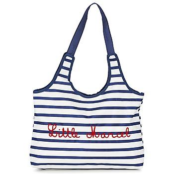 Bags Women Small shoulder bags Little Marcel DIM Ecru / Marine