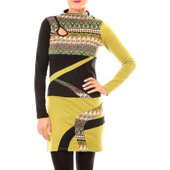 Clothing Women Short Dresses Bamboo's Fashion Robe Tribal BW622 vert Green