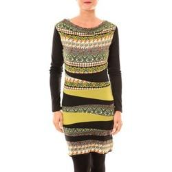 Clothing Women Short Dresses Bamboo's Fashion Robe BW671 vert Green