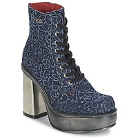Shoes Women Ankle boots New Rock BOSTA Blue
