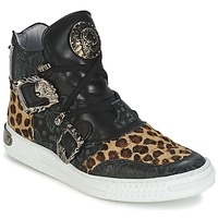 Shoes Women Hi top trainers New Rock ANTERLO Black
