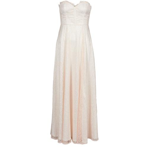 Clothing Women Long Dresses Manoukian 613346 Pink / Beige