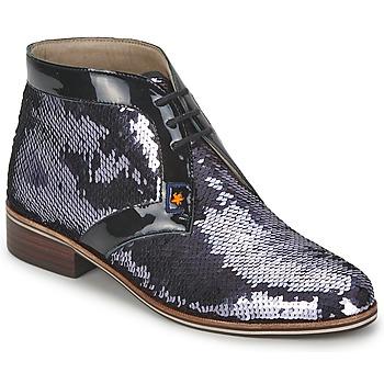 Shoes Women Mid boots C.Petula PEGASE Silver