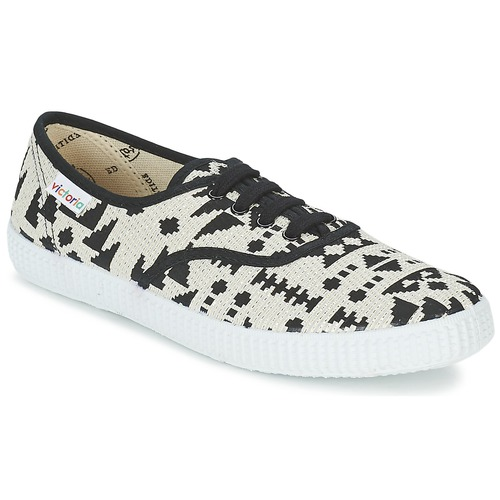 Shoes Women Low top trainers Victoria INGLES GEOMETRICO LUREX Beige / Black