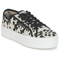 Shoes Women Low top trainers Victoria BASKET ETNICO PLATAFORMA BEIGE / Black