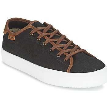 Shoes Men Low top trainers Victoria BASKET LINO DETALLE MARRON Black / Brown