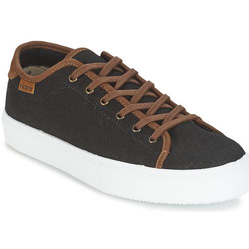 Shoes Men Low top trainers Victoria BASKET LINO DETALLE MARRON Black / Brown