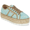 Shoes Women Low top trainers Victoria BASKET ETNICO PLATAFORMA Blue / BEIGE