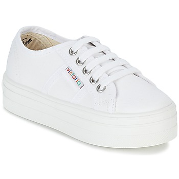 Shoes Girl Low top trainers Victoria BASKET LONA PLATAFORMA KIDS White