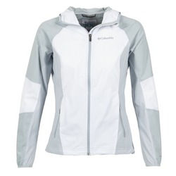 Clothing Women Jackets Columbia SWEET AS SOFTSHELL White / Grey