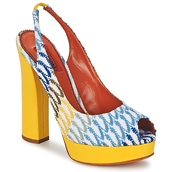 Shoes Women Sandals Missoni XM005 Yellow / Blue