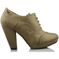 Shoes Women Shoe boots MTNG MUSTANG booty heels BROWN