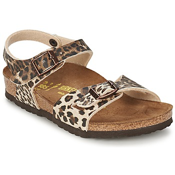 Shoes Girl Sandals Birkenstock RIO Leopard / DARK / Brown
