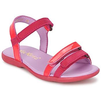 Shoes Girl Sandals Kickers ARCENCIEL Fuschia / Pink / Fluorescent