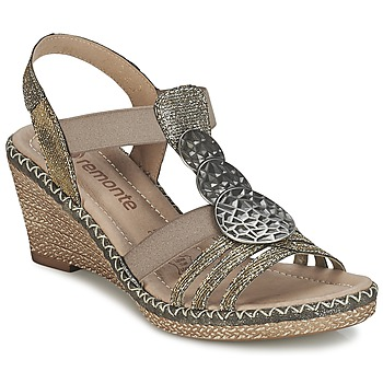 Shoes Women Sandals Remonte Dorndorf TINACE GOLD / Silver