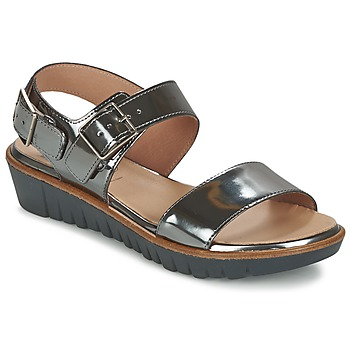 Shoes Women Sandals Wonders LAMETOP Grey / Silver