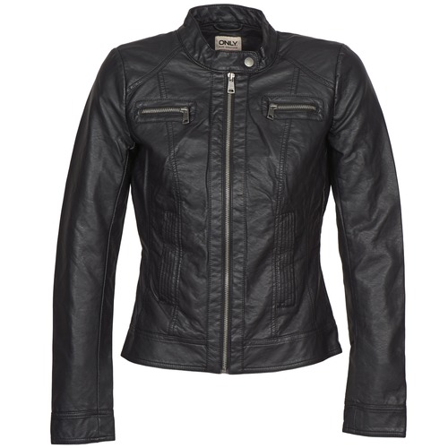 Clothing Women Leather jackets / Imitation leather Only BANDIT Black