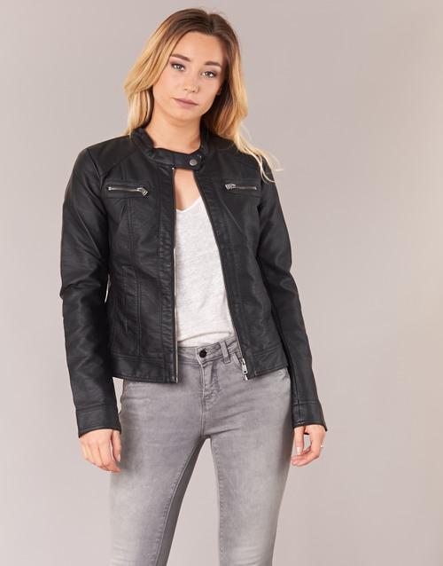 Clothing Women Leather jackets / Imitation leather Only BANDIT Black