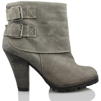 Shoes Women Ankle boots Vienty booty woman buckles GREY