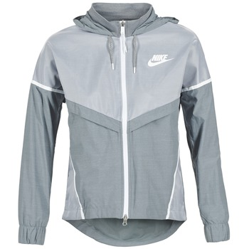 Clothing Women Macs Nike TECH WINDRUNNER Grey