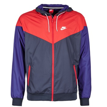 Clothing Men Macs Nike WINDRUNNER MARINE / Red / Blue