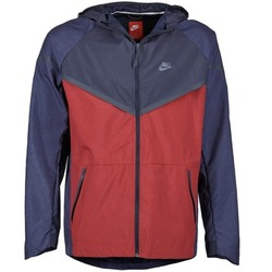 Clothing Men Macs Nike TECH WINDRUNNER Red / Marine / Grey
