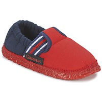 Shoes Boy Slippers Giesswein AICHACH Red / Marine