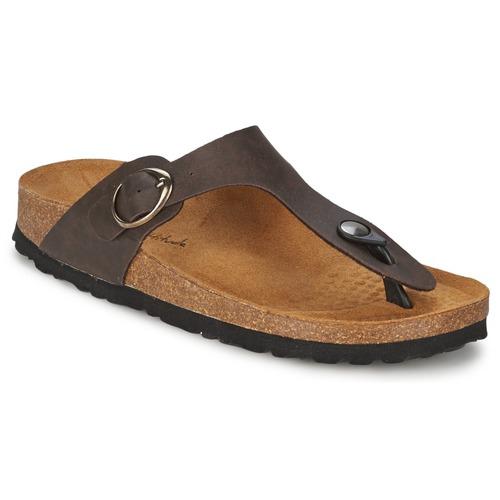 Shoes Women Flip flops Casual Attitude PILTOBLE Brown / Matt