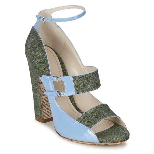 Shoes Women Sandals John Galliano A54250 Blue / Green