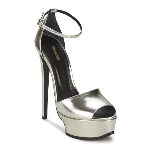 Shoes Women Sandals Roberto Cavalli XPS260-PZ048 Grey / Silver