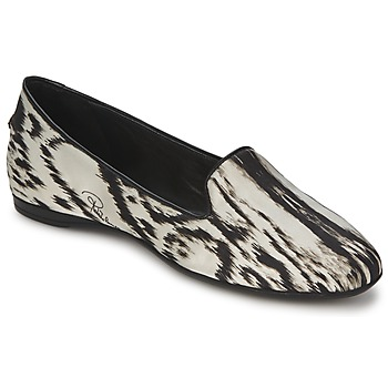 Shoes Women Flat shoes Roberto Cavalli XPS280-FLA35 Beige / Black