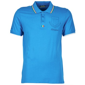 Clothing Men short-sleeved polo shirts Kappa OMER Blue