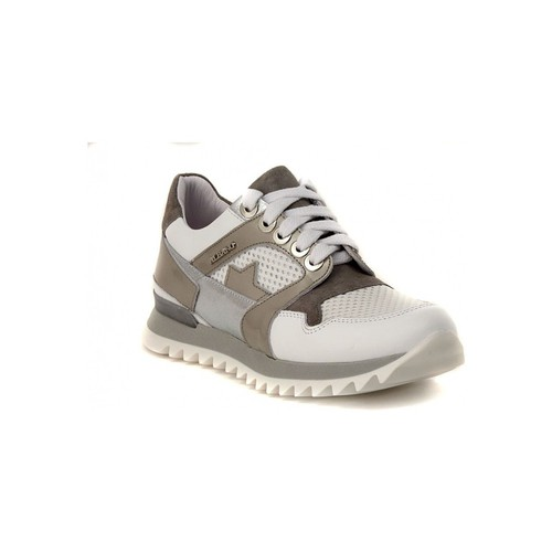 Shoes Women Low top trainers Albano GINNICA NAPPA BIANCA Silver