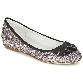 Shoes Women Flat shoes Café Noir BOLERA Glitter /  black