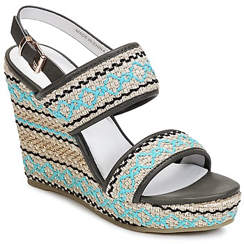 Shoes Women Sandals Café Noir JABALA Carbon / Turquoise