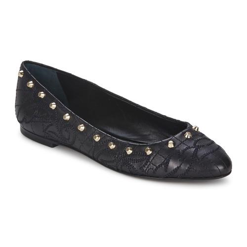 Shoes Women Flat shoes Versace DSL787C Black / Gold