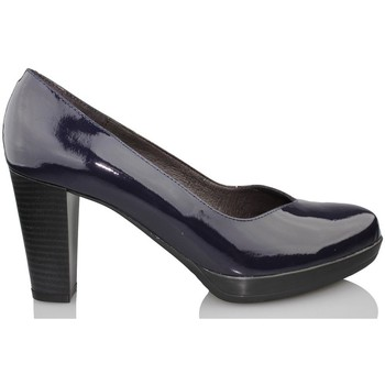 Shoes Women Heels Kroc patent leather shoe salon BLUE